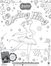 Angelina Ballerina Spring Fling Coloring Page