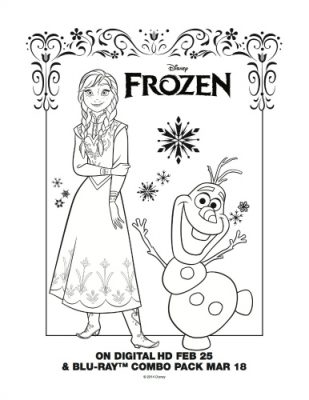 Disney Frozen Free Printable Coloring Page