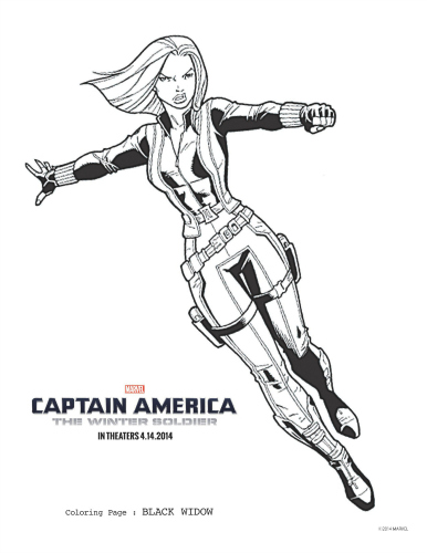 Download Avengers Coloring Pages Here Blackwidow: Captain America: The Winter Soldier Black Widow Coloring