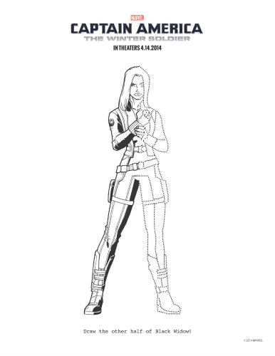 Printable captain america the winter soldier black widow for Captain america the winter soldier coloring pages