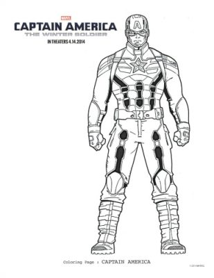 Captain America: The Winter Soldier Free Printable Coloring Page
