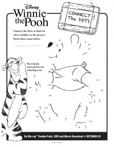 Winnie the Pooh Connect the Dots