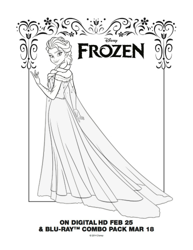 Free Printable Coloring Page Elsa From Disneys Frozen