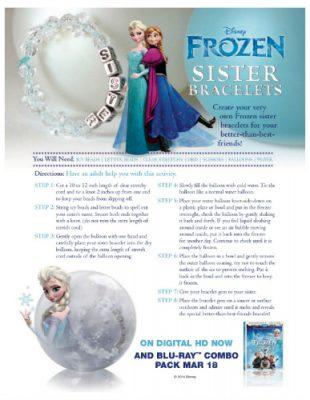 Disney Frozen DIY Sister Bracelets