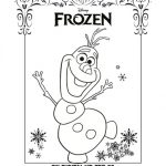 Frozen Printable Snowman Coloring Page