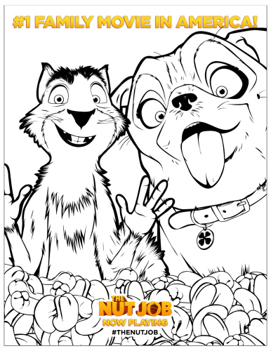 The Nut Job Movie Free Printable Coloring Sheet