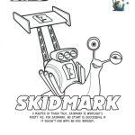 Turbo Printable Coloring Page – Skidmark
