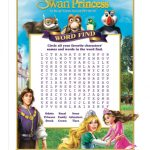 The Swan Princess Royal Family Tale Printable Word Search