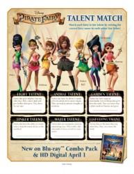 Disney Pirate Fairy Talent Match Activity Sheet