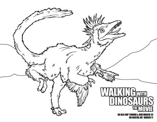 Walking with Dinosaurs Free Coloring