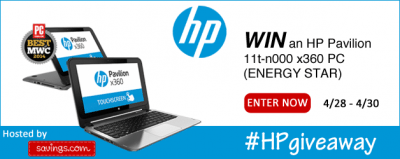 HP Pavillion Laptop Giveaway – Ends 4/30/14
