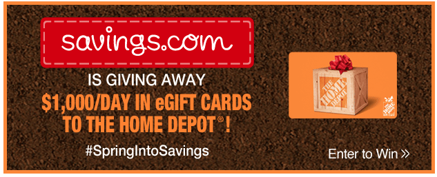 Home Depot Giveaway