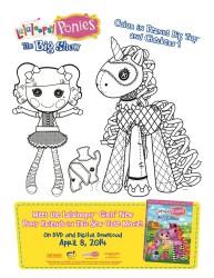 Lalaloopsy Ponies Printable Coloring Page