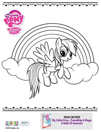 My Little Pony Printable Coloring Sheet Mama Likes This