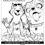 The Nut Job Surly & Precious Coloring Page