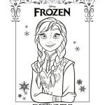 Disney Frozen Free Printable Anna Coloring Page