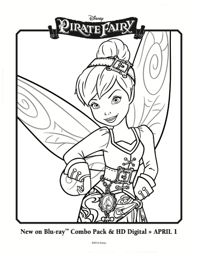 Pirate Fairy Printable Coloring Sheet Tinker Bell Mama