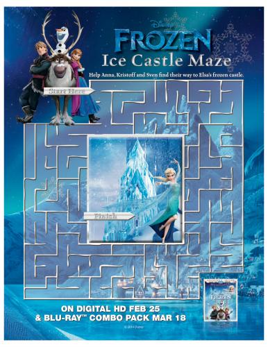 Disney Frozen Free Printable Maze