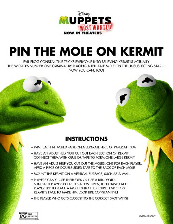 Printable Muppets Pin The Mole On Kermit Game Mama Likes