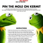 Printable Muppets Pin the Mole on Kermit Game