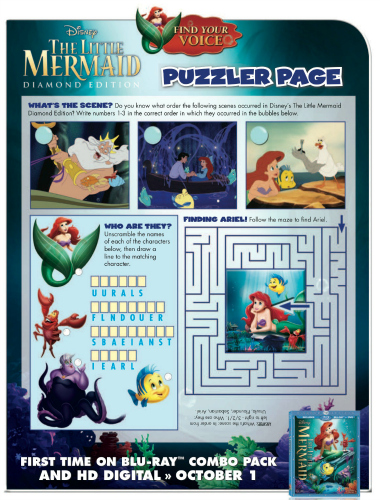 Little Mermaid Printable Puzzles