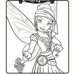 Pirate Fairy Printable Coloring Page