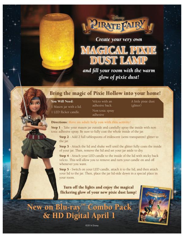 Pirate Fairy Magical Pixie Dust Lamp Craft