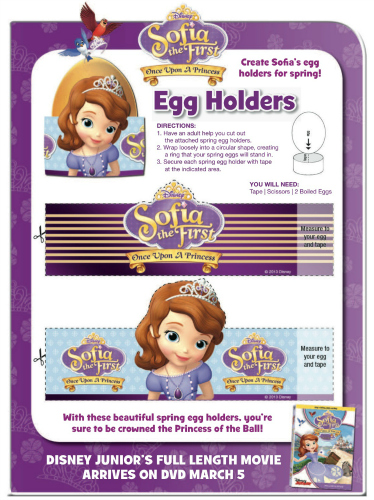 Sofia the First Printable Easter Egg Holders