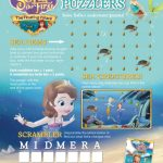 Sofia the First Printable Puzzlers Page