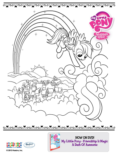 My Little Pony Friendship Is Magic Printable Coloring Page My Pony Friendship Is Magic Coloring Pages Rainbow Dash