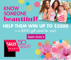 Sally Beauty Contest - Over $10,000 in Prizes