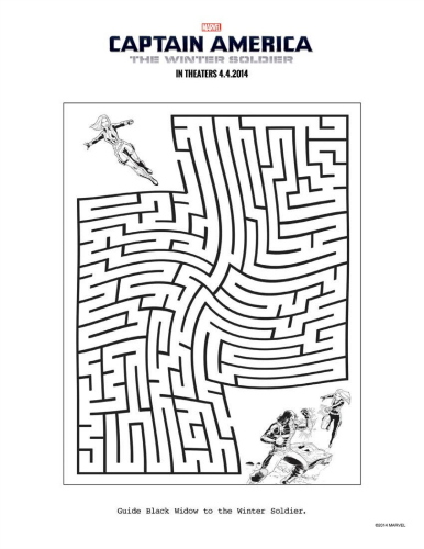 Download Avengers Coloring Pages Here Blackwidow: Printable Winter Soldier & Black Widow Maze