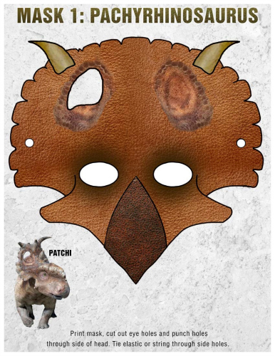 Free Printable Patchi Dinosaur Mask