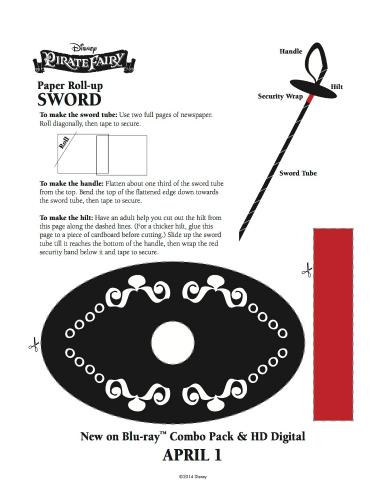 Disney Pirate Fairy Printable Pirate Sword