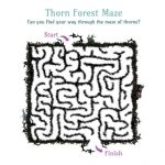 Disney Maleficent Printable Thorn Forest Maze