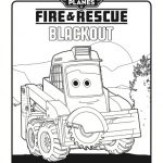 Disney Planes: Fire & Rescue Printable Coloring Page – Blackout