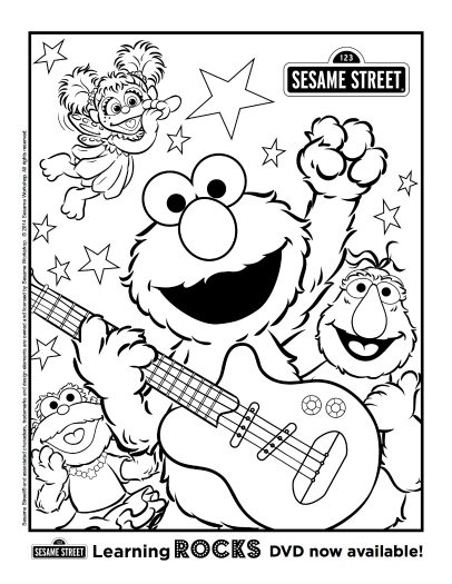 Free Printable Sesame Street Coloring Page
