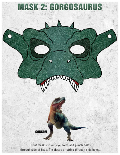 Gorgon Free Printable Dinosaur Mask