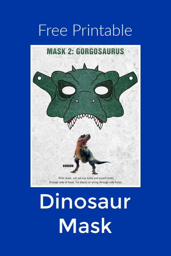 Free Printable Gorgosaurus Dinosaur Mask #FreePrintable #DinosaurCraft #DinosaurMask #Gorgosaurus