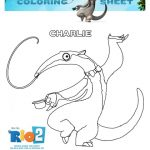 Rio 2 Printable Coloring Sheet – Charlie