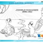 Rio 2 Jungle Paradise Printable Coloring Page