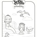 sofia the first floating palace mermaid coloring sheet