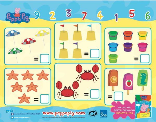 Peppa Pig Printable Math Activity Worksheet Mama Likes This