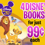 4 Disney Books – 99 cents Each & Free Shipping – EXPIRED