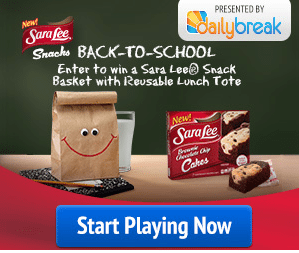 Sara Lee Back to School Sweepstakes – EXPIRED