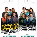 Disney Alexander Bad Day Printable Door Hanger Craft