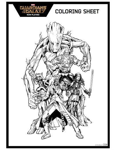 Guardians of the Galaxy Printable Coloring Page