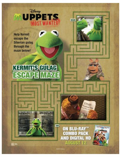 Muppets Most Wanted Printable Maze | Mama Likes This