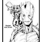 Rocket & Groot Printable Coloring Page – Guardians of the Galaxy
