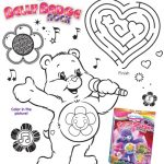 Care Bears Printable Belly Badge Rock Activity Page